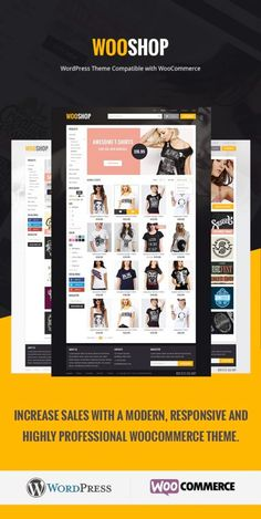 WooShop is a modern & stylish WooCommerce WordPress theme built for online stores. WooShop comes packed with customization options, a stunning, responsive layout & an excellent selection of features. Wordpress Theme Design, Premium Wordpress Themes, Responsive Layout, Wordpress Template, Creating A Blog, Website Template, Ecommerce, Blogging, Coupon