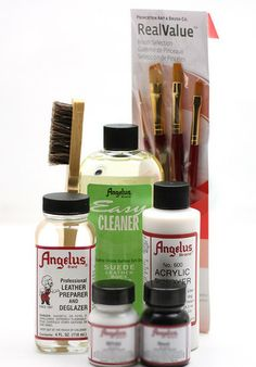 Angelus Paint Starter Kit | Everything you need to start your journey | Angelus Brand sneaker paint, dye, cleaners and more