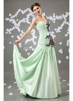 Beautiful One Shoulder Handmade Beaded A Line Dresses For Prom Party