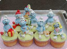 Smurfs Cupcakes