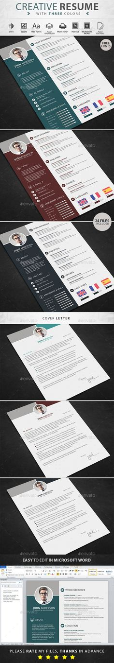 Resume Template #design Download: http://graphicriver.net/item/resume/12966400?ref=ksioks