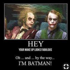 Michael Keaton Batman/Beetlejuice, Heath Ledger The Joker Dc Memes, Funny Memes, Hilarious, Funny Quotes, Heath Ledger, Joker Cosplay, Michael Keaton Batman, Michael Keaton Beetlejuice, Suicide Squad