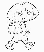 Dora coloring pages.