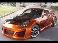 Orange street racing car