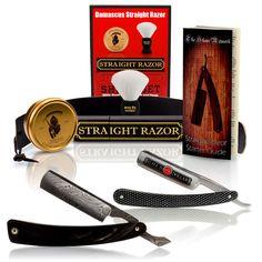 Vintage Straight Razor - $100 Off Buffalo Horn Damascus Straight Razor and Luxury Shave Set, $159.88 (http://www.vintagestraightrazor.com/products/100-off-buffalo-horn-damascus-straight-razor-and-luxury-shave-set.html/)
