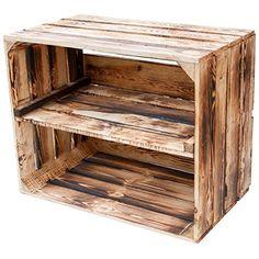Massive geflammte Kiste als Schuh- und Bücherregal - Obstkiste, Neu +++ Natur Kontorei-Obstkisten http://www.amazon.de/dp/B0193QARJA/ref=cm_sw_r_pi_dp_JgO7wb0RXWB3K