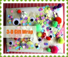 Three Dimensional Wrapping Paper -  Pinned by @PediaStaff – Please Visit http://ht.ly/63sNt for all our pediatric therapy pins