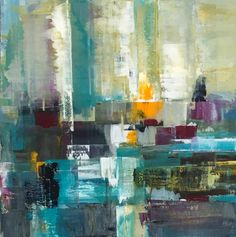 "Saatchi Art Artist Claudia Grutke; Painting, ""winter morning 02"" #art"