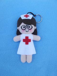 Chaveiro personalizado enfermeira - encomendas pela minha página no facebook - https://www.facebook.com/Boutiquegeekbg/
