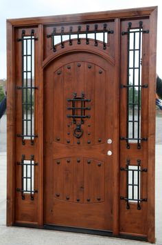 ** The Vienna - Rustic Doors - Exterior Wood Doors Wood Storm Doors, Wood Front Doors, The Doors, Rustic Doors, Entrance Doors, Panel Doors, Screen Doors, Barn Doors, Wood Exterior Door