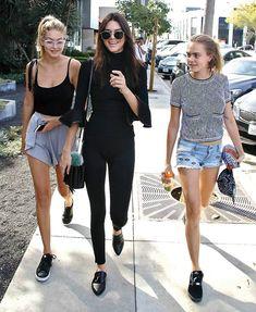 Gigi, Kendall y Cara en los Angeles. Foto: Cordon Press