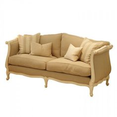 Louis XV Daybed - 2.5 Seat - Available with or without the back, with upholstered or caned sides.
