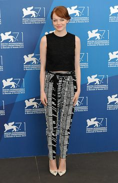 hollywood-fashion:  Emma Stone in Proenza Schouler at the Venice Film Festival photocall forBirdman on August 27, 2014.