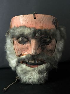 Rare Vintage Hand-carved Dance Mask from Guatemala