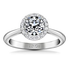 #Valentines #AdoreWe #FrostNYC - #imaginediamonds Round Diamond Halo  Engagement Ring Etoile 14K White Gold - AdoreWe.com