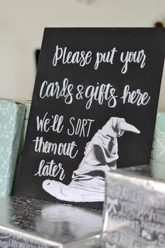 Harry Potter Bridal Shower | Sorting hat sign  C. Keith & T. Barks