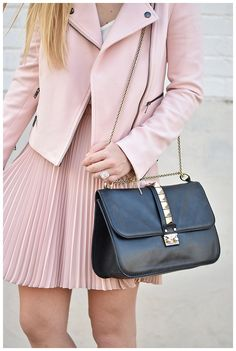 A moto jacket in pink? Yes, please! How would you style this leather jacket for summer?
