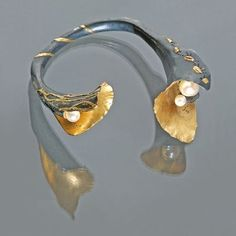 Studio Numen - Bracelet - bimetal, pearls