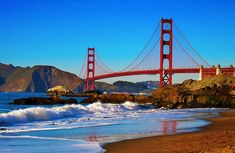 Head to these 15 spots to enjoy top-notch views of San Francisco& stunning scenery. Ocean Beach San Francisco, Baker Beach San Francisco, San Francisco Travel, West Coast Road Trip, Pacific Coast Highway, Beautiful Places To Visit, Oh The Places You'll Go, Beautiful Beaches, San Fransisco