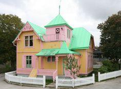 Täällä tuli käytyä kesällä 2013 moottoripyöräreissulla. Villa Ville Kulla - Pippi Longstocking's house, Sweden