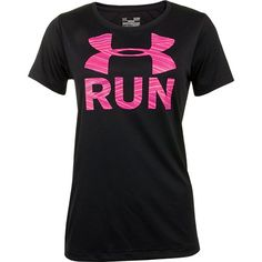 Under Armour Run Print tee Sporty Outfits, Athletic Outfits, Athletic Wear, Cute Outfits, Athletic Clothes, Under Armour Outfits, Nike Under Armour, Workout Attire, Workout Wear