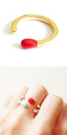 Match stick ring