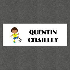 """16 Etiquettes scolaires personnalisées Thème """"Football Garçon"""" : Stickers par creerpourvous"""