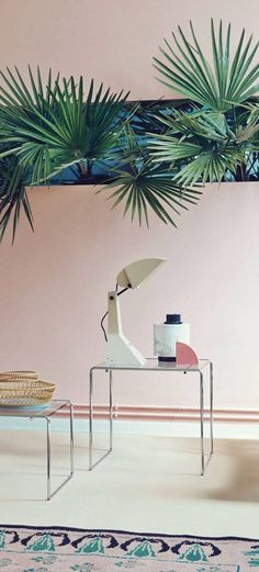 partnership with Andrea Ferrari, Studiopepe captures our interior hearts once again, with a tropical set for ELLE Decor Italy, and reminds us that they really are the best. Palm trees, the use of blue and green tones and a mixture of different textures. Design Set, Deco Design, House Design, Design Ideas, Modern Design, Interior Architecture, Interior And Exterior, Interior Styling, Interior Decorating