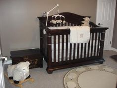 Sweet Lamb Baby Nursery Theme: Our sweet lamb nursery theme was in an earlier life, a room that was used as our office. To transform it into a baby's room my husband gutted all of the