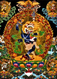 Wisdom-Dakini Simhamukha Tibet, Shiva, Clark Art, Framed Prints, Canvas Prints, Buddhist Art, Tantra, Illustrations And Posters, My Arts