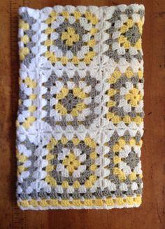 Baby Blanket Hand Crochet Baby Boy Baby Girl Yellow White