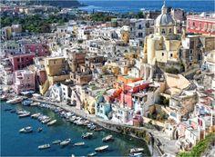 Procida, Italy 40 Lugares secretos que la mayoria de los viajeros no conocen. el último es maravilloso! / 40 secret places that most of the travelers don't know, the last one is amazing!