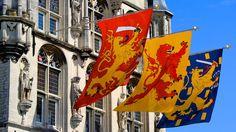 Dutch Flags on the Gouda Town Hall
