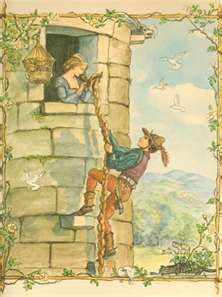 Tasha Tudor...I need to get this framed for Maria's room...she LOVES Rapunzel and this is so beautifully illustrated!