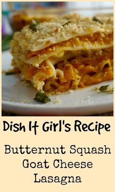Butternut Squash Lasagne With Goat Cheese, Sage, And ...