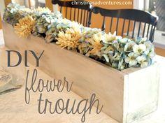 DIY Flower Trough, via Christina's Adventures