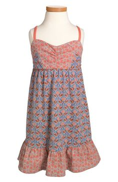 Roxy 'Dancing Leaves' Sleeveless Dress (Toddler Girls, Little Girls & Big Girls) (Online Only) | Nordstrom