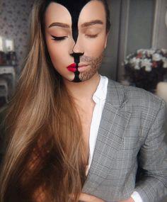 Special Effects Makeup Artist Subtly Transforms Her Face Into Striking Illusions - Halloween make-up - Halloween Creepy Makeup, Fx Makeup, Robot Makeup, Beauty Makeup, Halloween Eye Makeup, Halloween Looks, Costume Halloween, Halloween Ideas, Halloween Kunst