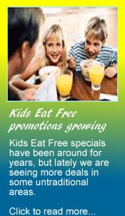 Welcome to My Kids Eat Free! Parents, come search for Kids Eat Free specials.