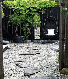jardin sur gravier rocaille et décoration moderne