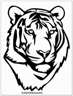 white tiger head printables - Google Search