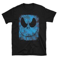 Nightmare Before Christmas Jack Skellington Skeleton Face Short-Sleeve Unisex T-Shirt Skeleton Face, Nerdy Shirts, Jack Skellington, Nightmare Before Christmas, Unisex, Sleeves, Mens Tops, T Shirt, Tim Burton