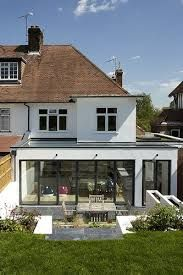 Image Result For 2 Storey Flat Roof Extension House Extension Design House Extensions Kitchen Extension