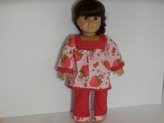 American Girl Doll Clothes Strawberry Shortcake  by something2do