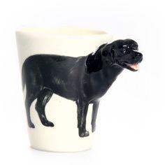 Blue Witch Ceramics: Black Lab Mug, at 27% off!