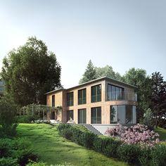 visualization of luxury villa exterior. 3d Visualization, 3d Artist, Luxury Villa, Exterior, Mansions, House Styles, Home Decor, Luxury Condo, Decoration Home