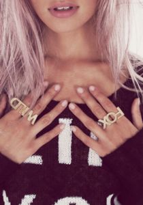 Wildfox Couture Wild & Fox Ring Set $33.60 www.hintboutique.com