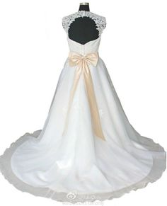 FairOnly Lace Crystal Sweetheart Sashes Knotbow Wedding Dress Bridal Gown Custom