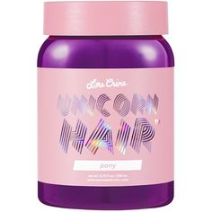 Lime Crime Unicorn Hair (61 BRL) ❤ liked on Polyvore featuring beauty products, haircare and lime crime