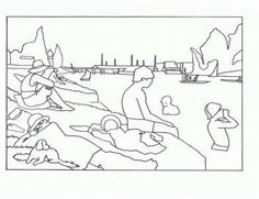 Famous artwork coloring pages- great for trading cards/ rewards